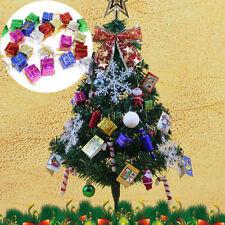 12pcs Mini Christmas Ornaments Foam Gift Box Xmas Tree Hanging Party De Mr