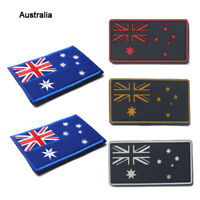 Great Australia Nation Flag Sew Embroidered PVC Trim Patch Shoulder Flash Badge