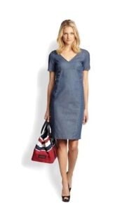 Max Mara Weekend Denim Pencil Dress UK10 IT42