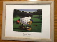 """Bob Commander """"Drop 'Em""""-Golf Poster Print-Framed-Signed-18"""" x 14"""""""