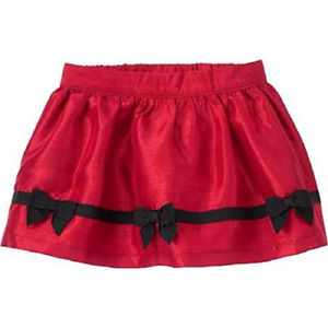 Gymboree Baby Girl's Holly Red Bow Trim Skirt, Size 6-12 Months, Retail $29.95