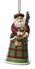 Enesco Jim Shore Scottish Santa Hanging Ornament Nib # 4022943