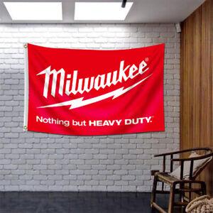 Milwaukee Tools Logo 3x5FT Banner Flags Car Show Garage Wall Decor Sign 2021 NEW