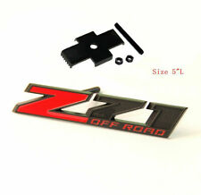 NEW BLACK/RED Z71 OFF ROAD Front Grill badge Grille Metal Emblem fit all cars