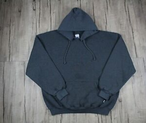 Vintage 90s Russell Athletic Blank Dark Gray Men's Pullover Hoodie Size XL