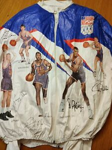 1992 Olympics Dream Team Tyvek  Kellogs NBA Jacket Adult Large (2 of them)