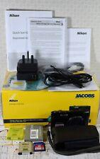NIKON Black Coolpix S3100 14MP Wide 5x Zoom VR Digital Compact Camera Boxed +++