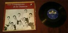 """Les Compagnons De La Chanson 10"""" LP Angel Records ANG 64000 Moulin Rouge exc"""