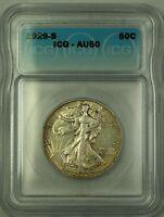 1929-S Walking Liberty Silver Half Dollar 50c Coin ICG AU-50