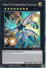 YuGiOh Number 38: Hope Harbinger Dragon Titanic Galaxy CYHO-ENSE2 Super Rare Lim