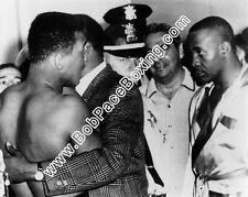 Muhammad Ali vs Sonny Liston Glossy 8x10 Black and White Boxing Fight Photograph