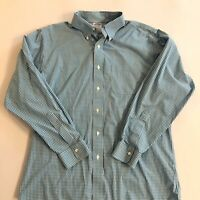 Brooks Brothers Regent 16 1/2 - 34 Button Down Shirt Teal Check Original Polo