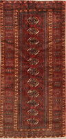 Antique Geometric Balouch Area Rug Oriental Hand-Knotted Home Decor Carpet 3'x6'