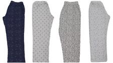 Ladies Girls Pyjama Bottoms Summer Cotton Lounge Pants Various Colours - NEW