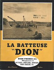 Farm Equipment Brochure Dion La Batteuse Thresher et al FRENCH Quebec c50 (F5422