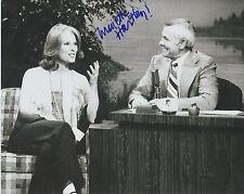 MARIETTE HARTLEY Signed 8 x 10 Photo AUTOGRAPH w/ COA AUTO Johnny Carson Show