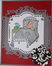 Sick Man & Nurse RETIREDU get photo#2L@@K@examples Art Impressions Rubber Stamps