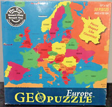 GeoToys Europe GeoPuzzle, 58 Country Shaped Pieces, 19 x 16 Inches, Ages 4+ New!