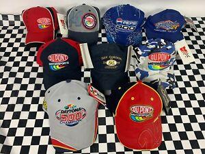 Lot of 9  ( BRAND NEW )  Nascar Daytona Dupont Gordon Racing Hats Caps Pepsi 400