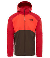 The North Face Stratos Jacket Herren Hardshell Regenjacke brown-fiery red-rage r
