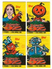 1985 Topps - RETURN TO OZ - All 4 Original Trading Card/Sticker Wax Pk. Wrappers