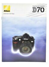 Nikon D70 15 Page Brochure of D70 & Accessories