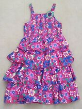 STRAWBERRY FAIRE Girls Multicoloured Strappy Floral Dress Cotton 11-12 Years
