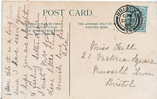 Genealogy Postcard - Ancestor History - Hall - Russell Town - Bristol    BS874