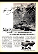 "1972 MAZDA CAPELLA ROTARY RX3 AD A1 CANVAS PRINT POSTER FRAMED 33.1""x23.4"""