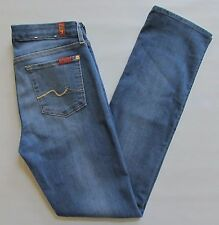 7 for all Mankind Jeans 29 Kimmie Straight Leg Denim Supreme Vibrant Blue 32""