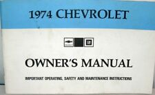 1974 CHEVROLET OWNERS MANUAL