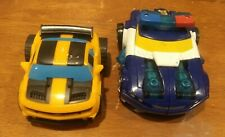 Lot of 2 Playskool Rescue Bots Chase Energize Police Car & Bumblebee