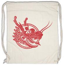 CHINESE TATTOO DRAGON HEAD Turnbeutel Asia China Oldschool Rockabilly Shirt