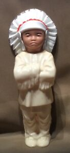 Vintage celluloid Plastic Native American Indian Chief Toy Figure Figurine