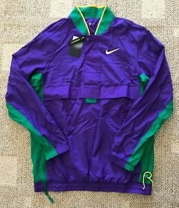 Nike Mens 1/2 Zip Pullover Basketball Windbreaker Jacket Purple Size XL-Tall