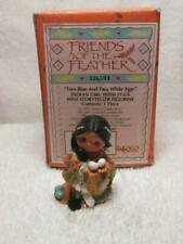 1997 Enesco Friends Of The Feather Two Blue Two White Eggs Mini Storyteller