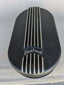 Edelbrock Oval Cast Air Cleaner for Single 4-barrel Black