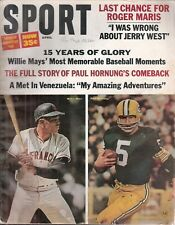 April 1966 Sport Magazine - Willie Mays SF Giants Paul Hornung Green Bay Packers