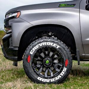 "Tire Lettering CHEVROLET SILVERADO PERMANENT Stickers Wheel 17""-26"" Decal 1.37"""