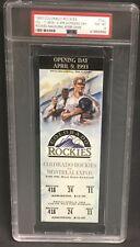 1993 Colorado Rockies Ticket 1st Game Inaugural Season vs Montreal Expos PSA 8