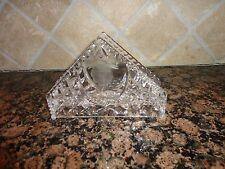 VINTAGE AMERICAN BRILLIANT LEAD CRYSTAL GLASS NAPKIN HOLDER