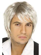 Boys band perruque blond clair hommes pop star célébrité Accessoire déguisement