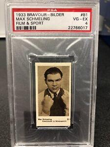 1933 Bravour Bilder Max Schmeling #B1 PSA 4 VG/Ex Pop 1 Only 1 Higher