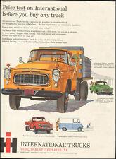 Vintage ad for International Trucks`Gold retro Truck  (030517