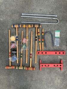 Vintage South Bend Croquet LawnPlay Game Set with manual -Never Put Together!