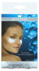 2 Packs REVITALE COLLAGEN & Q10 Anti Wrinkle Hydrating Eye Gel Patches 10 Sets