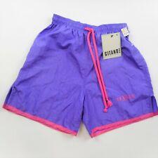 Size S Vintage Gitano Deadstock NWT Nylon Shorts Running Soccer Purple & Pink