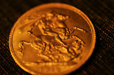 """1913 Britain FULL SOVEREIGN  """"KING GEORGE"""" Gold Coin- 100% Authentic!!!"""