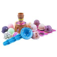 Chocolate Flavor Cone Scooped Flavored Ice Cream Cakes Piles Up Kids Toy