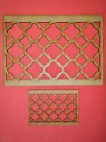 Decorative Panel Pattern Screening Grille MDF Stencil Embellishment